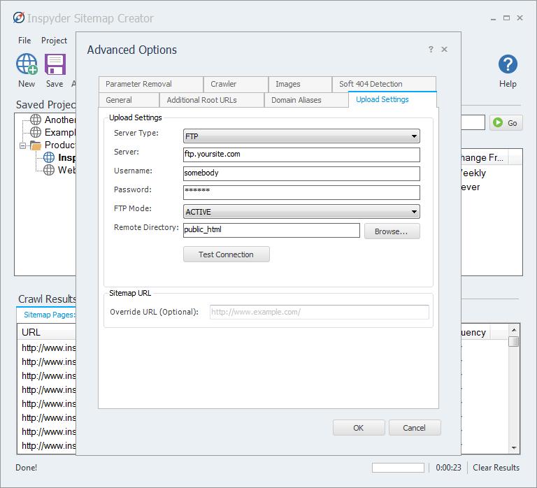 sitemap creator screenshot gallery inspyder